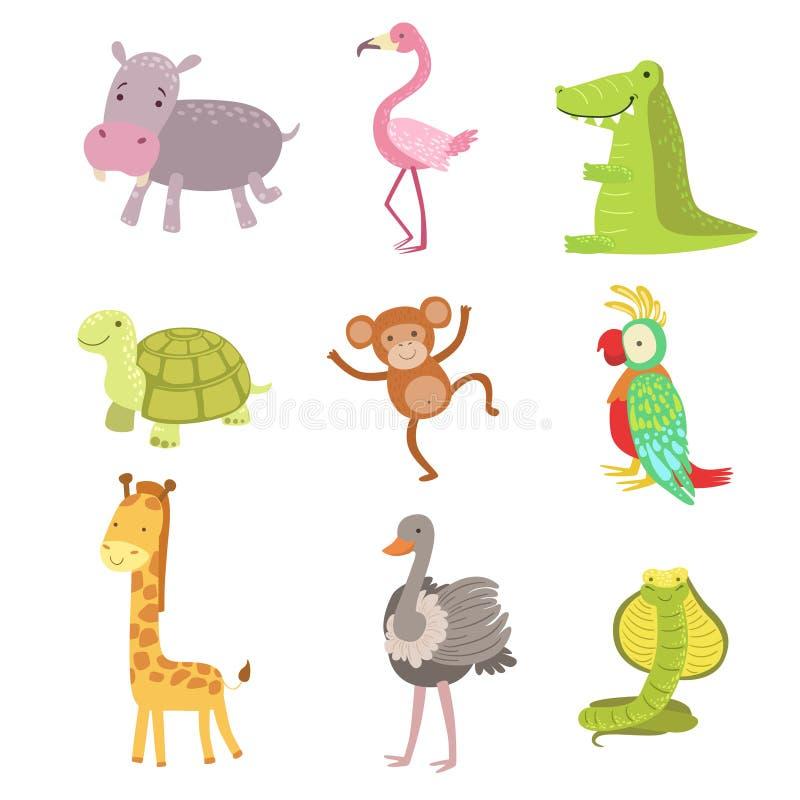 Afrikanischer Tier-Ikonen-Satz lizenzfreie abbildung