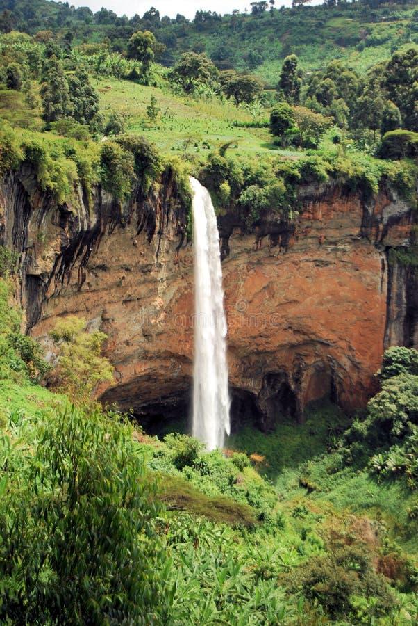 Afrikanischer Wasserfall lizenzfreie stockfotos