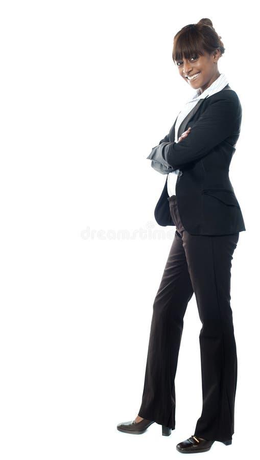 Afrikanischer weiblicher Manager einer Firma stockbilder