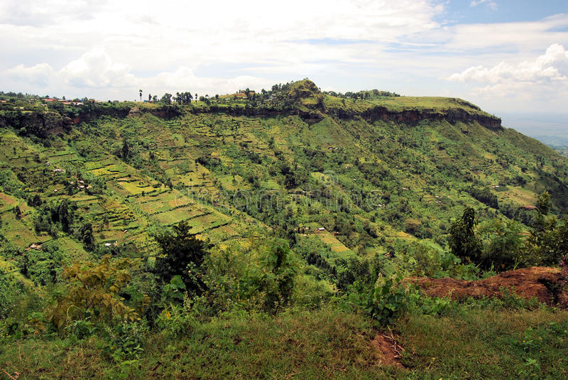 Afrikanisches Dorf lizenzfreies stockbild