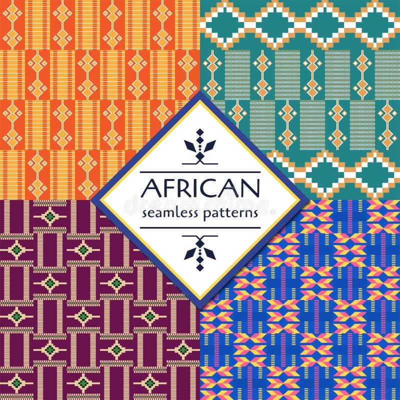 Afrikanisches ethnisches nahtloses Muster Geometrische Auslegung vektor abbildung