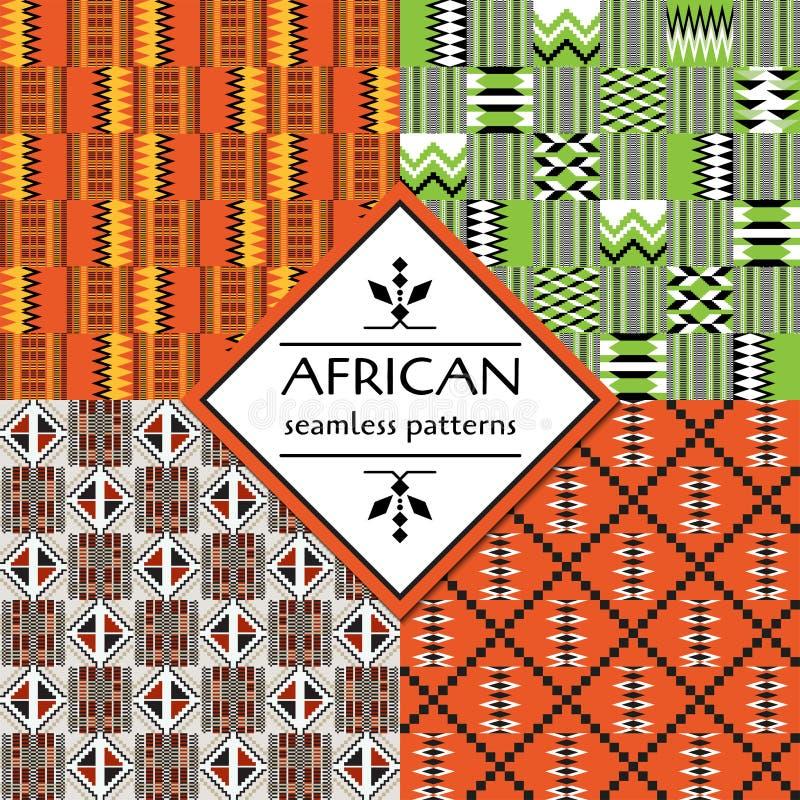 Afrikanisches ethnisches nahtloses Muster Geometrische Auslegung stock abbildung