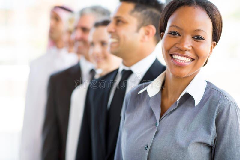 Afrikanisches Geschäftsfrauteam lizenzfreie stockfotografie