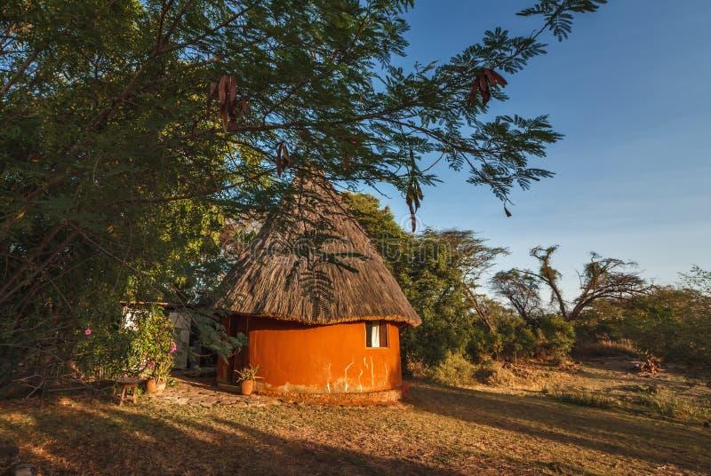 Afrikanisches Häuschen auf See Baringo - Kenia lizenzfreie stockfotografie