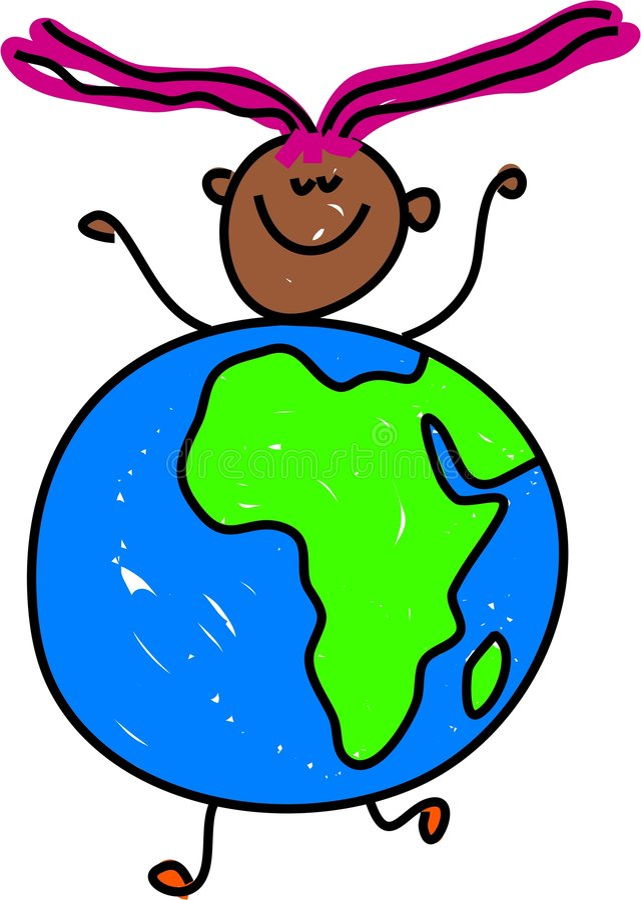 Afrikanisches Kind lizenzfreie abbildung