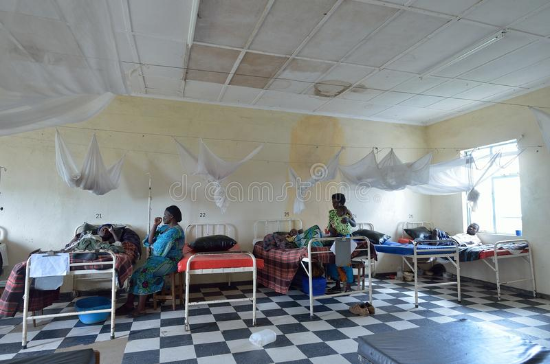 Afrikanisches Krankenhaus stockfoto