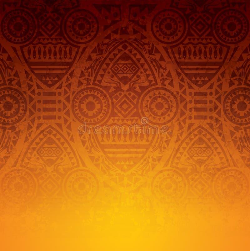 Afrikanisches Kunsthintergrunddesign lizenzfreie abbildung