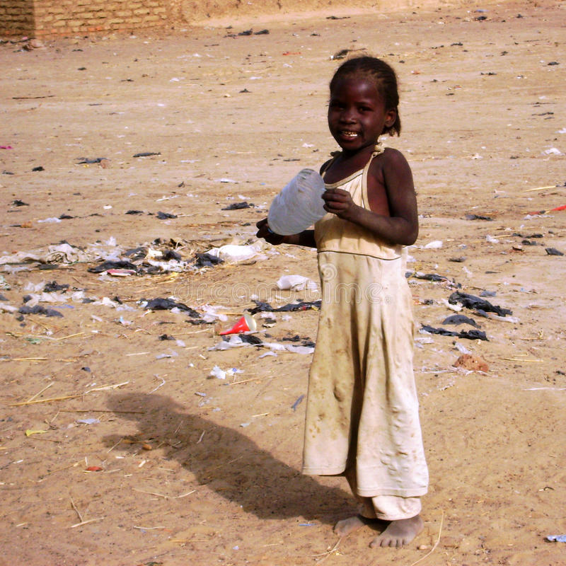 Afrikanisches Mädchen - Ghana lizenzfreie stockbilder