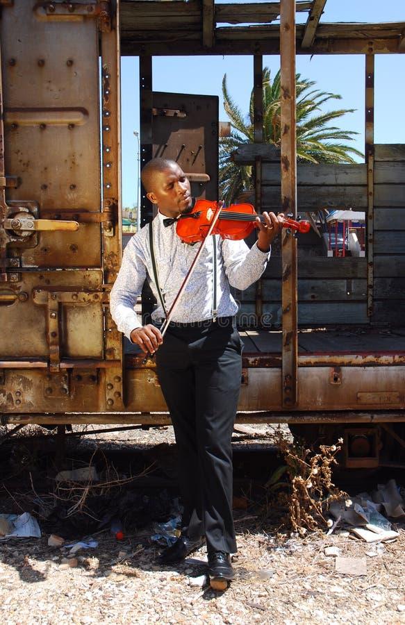Afrikanisches Straße musiciam stockbild