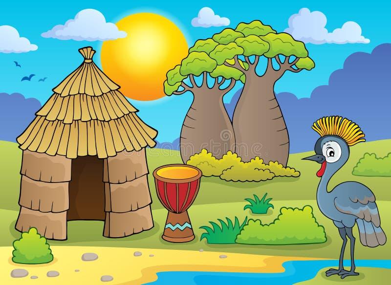 Afrikanisches thematics Bild 1 lizenzfreie abbildung
