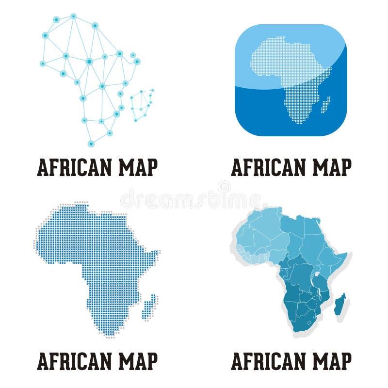 Afrikansk översiktslogo vektor illustrationer