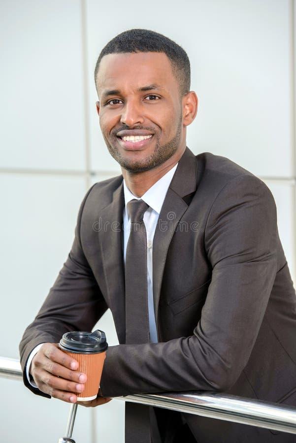 afrikansk affärsman royaltyfri bild
