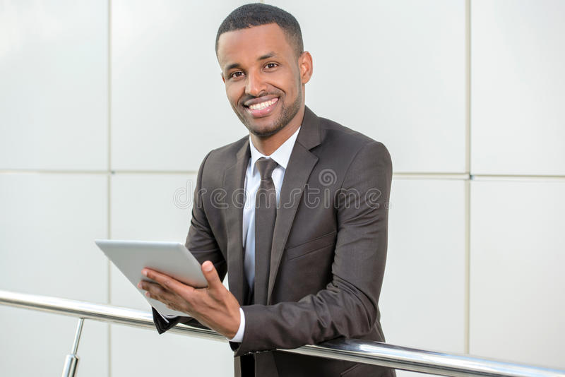 afrikansk affärsman royaltyfria foton