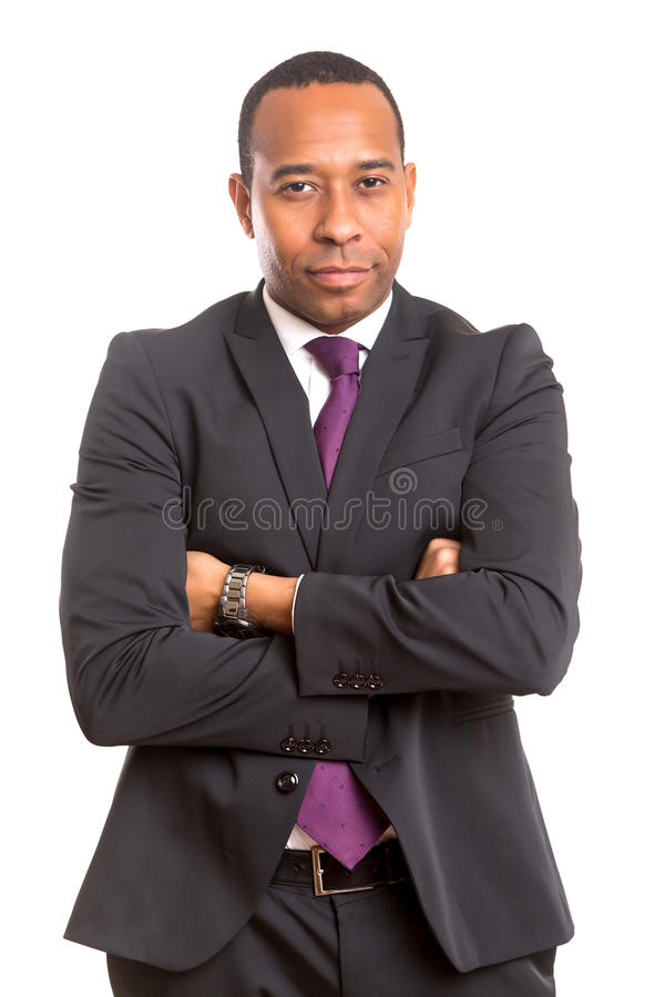 afrikansk affärsman royaltyfria bilder