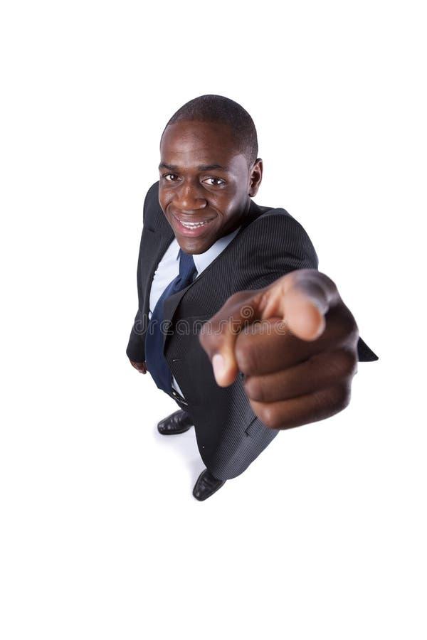 afrikansk affärsman som pekar till dig arkivbilder