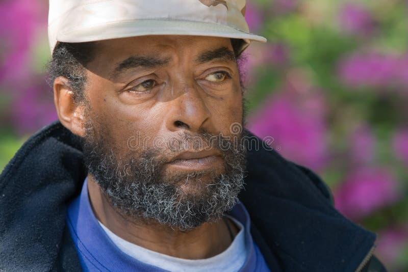 afrikansk amerikanåldringman royaltyfria bilder