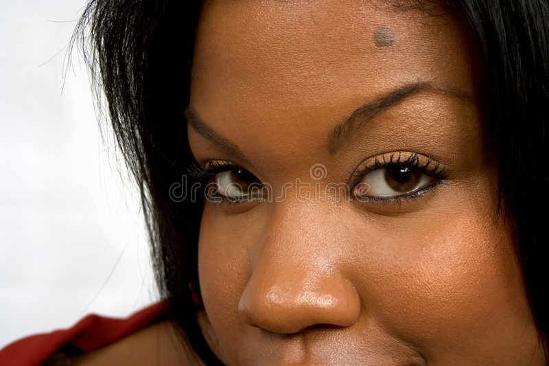 afrikansk amerikan eyes sexigt royaltyfri fotografi