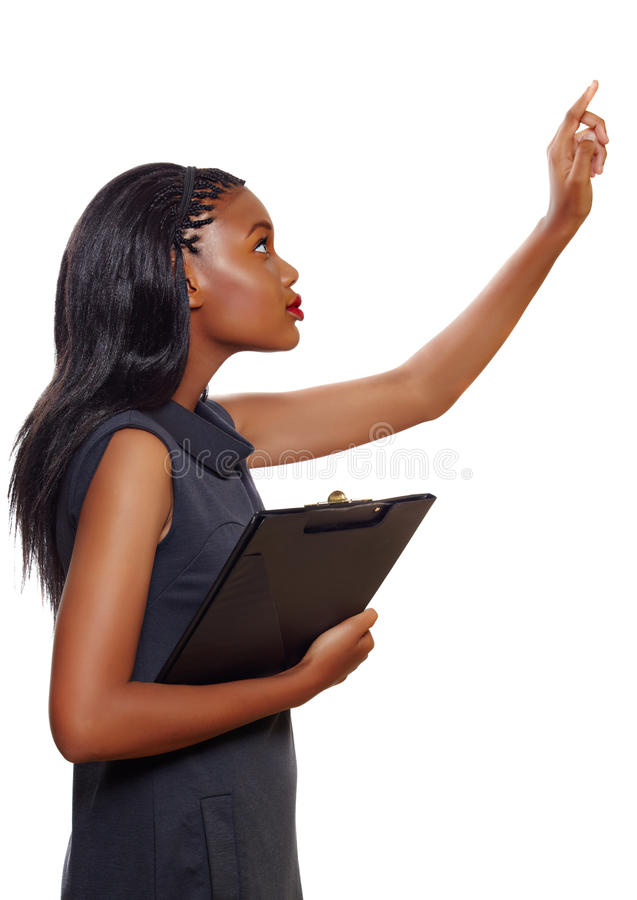 Afrikansk amerikanaffärskvinna arkivfoton