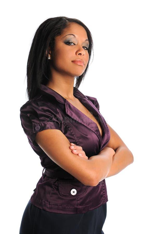 Afrikansk amerikanaffärskvinna royaltyfri fotografi