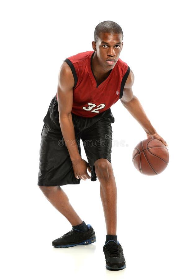 Afrikansk amerikanbasketspelare royaltyfri fotografi
