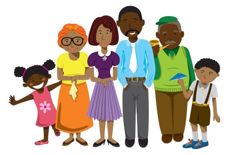 Afrikansk amerikanfamilj royaltyfria bilder