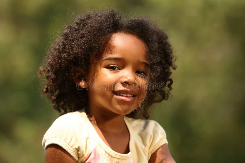 afrikansk amerikanflicka little royaltyfria bilder