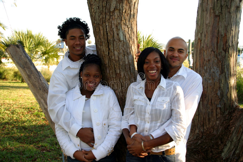 afrikansk amerikangrupp royaltyfri fotografi
