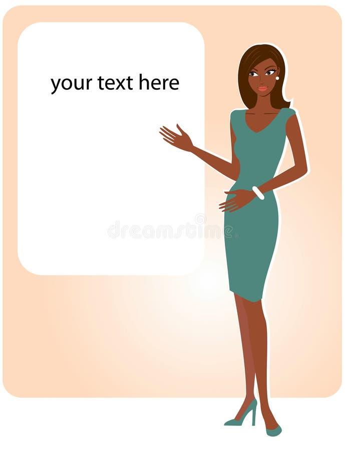 Afrikansk amerikankvinna stock illustrationer