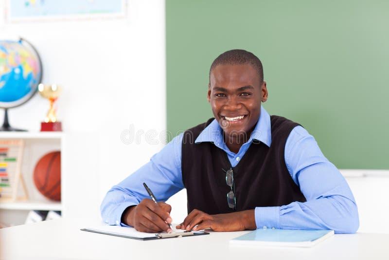 Afrikansk amerikanlärare arkivfoton