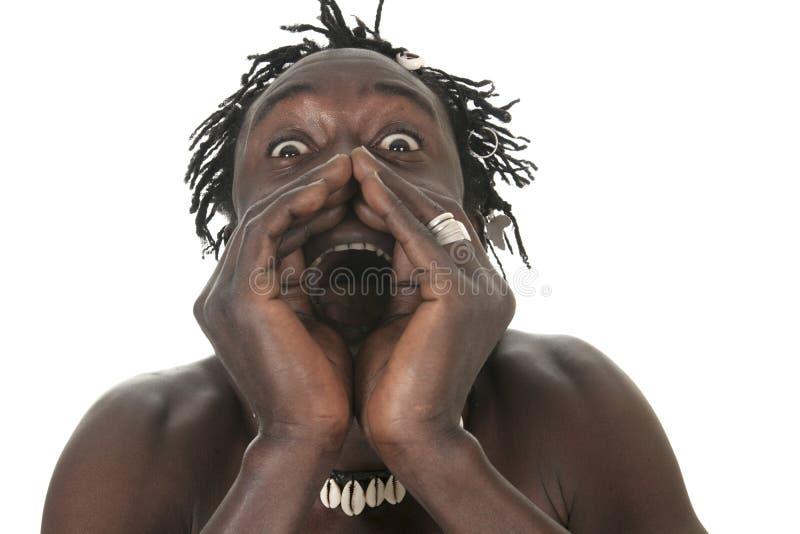 Afrikansk amerikanmanheadshot royaltyfri fotografi