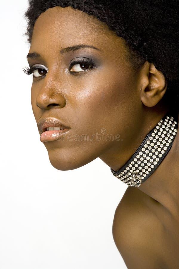 afrikansk amerikanmodemodell royaltyfri foto