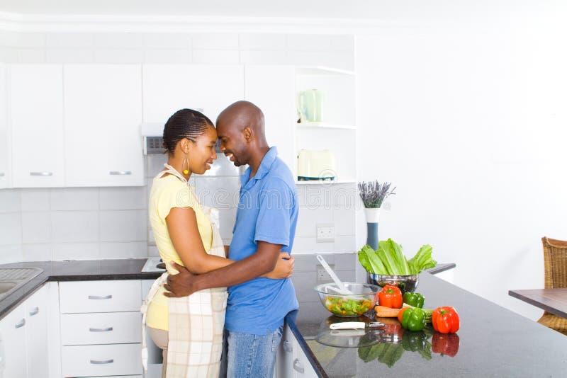 afrikansk amerikanpar royaltyfria bilder