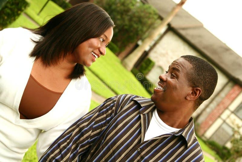 afrikansk amerikanparH royaltyfria bilder
