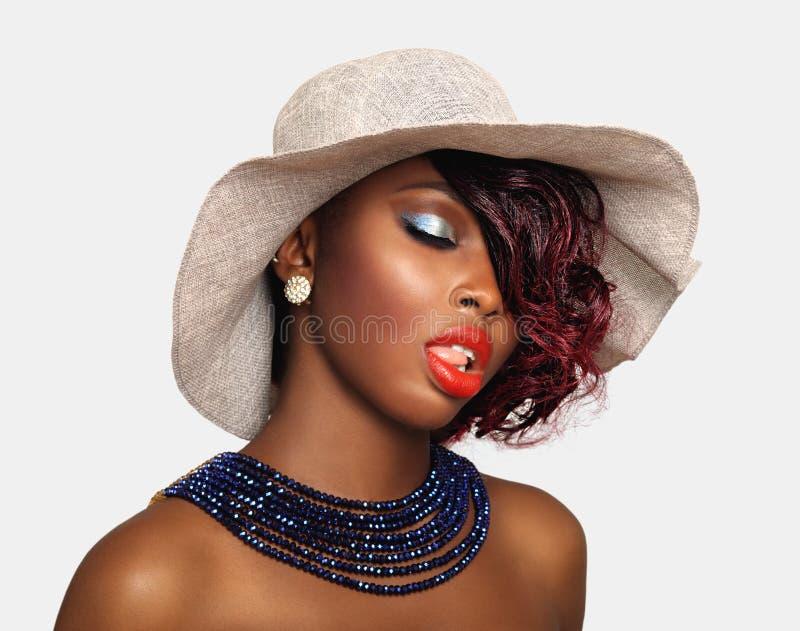 Afrikansk amerikanskönhetkvinna arkivfoton