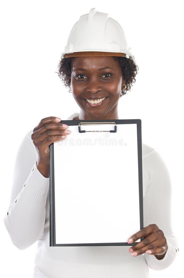 afrikansk amerikanteknikerkvinna arkivfoto