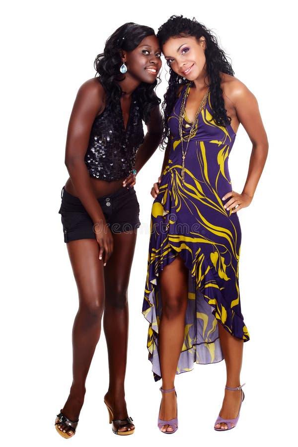 afrikansk amerikanvänner två royaltyfri foto