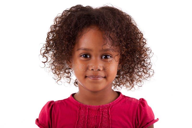 afrikansk asiatisk gullig flicka little royaltyfri bild
