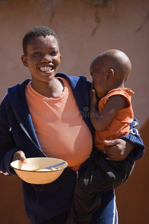 afrikansk barnmoder arkivbilder