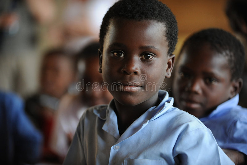 afrikansk barnskola arkivbilder