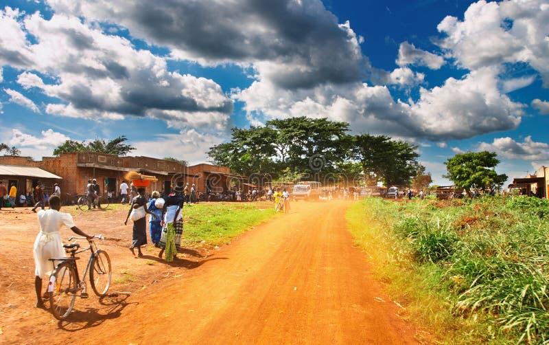 afrikansk bygd royaltyfria bilder