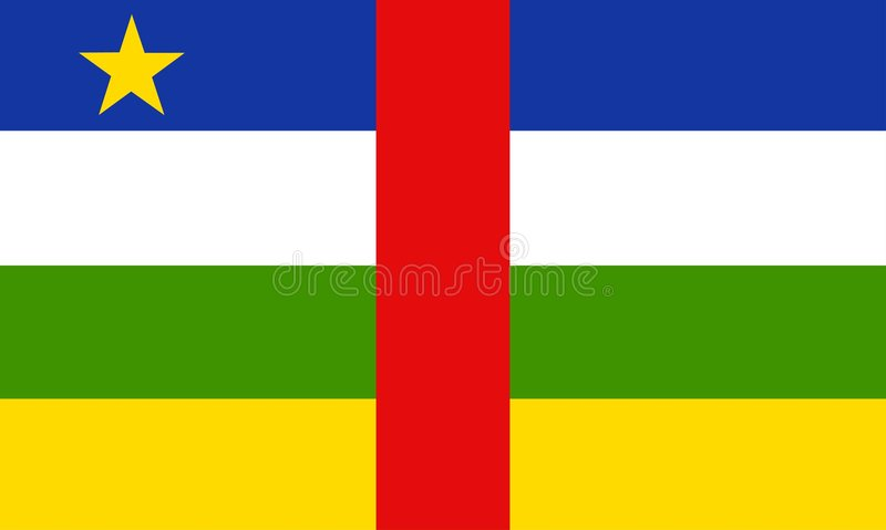 Download Afrikansk central republik vektor illustrationer. Illustration av flagga - 30411