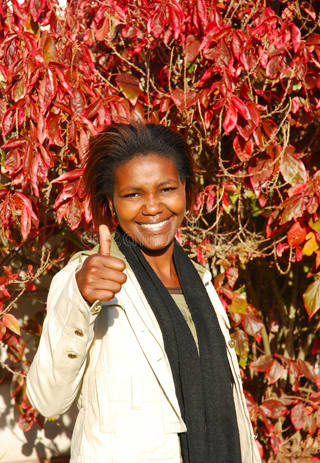 afrikansk deltagare royaltyfri bild