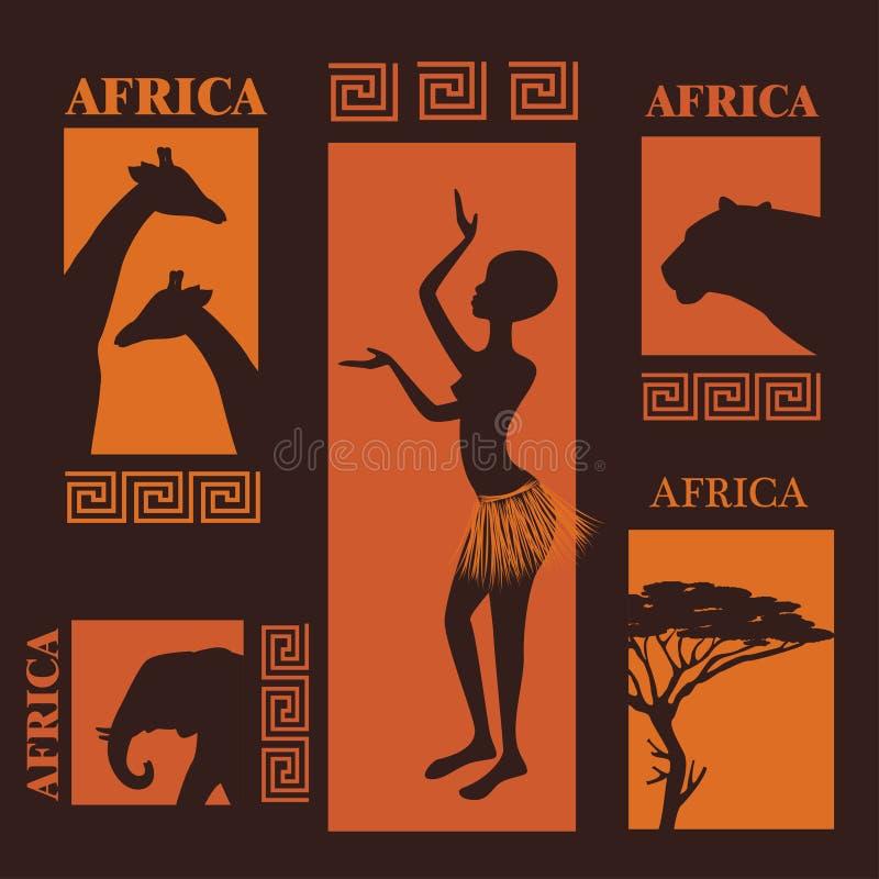 afrikansk design royaltyfri illustrationer