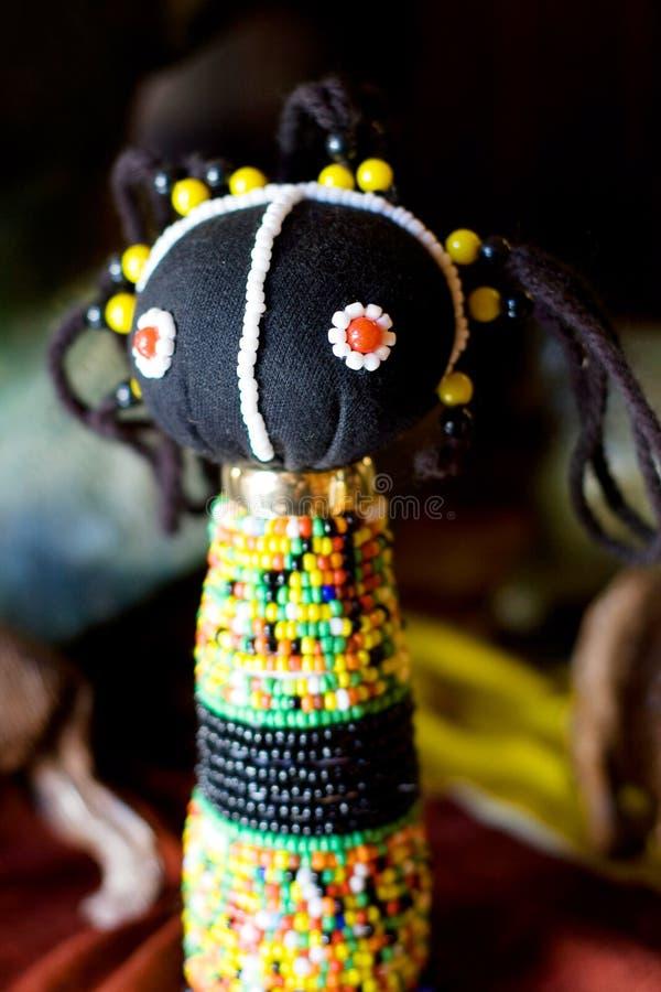 afrikansk dockazulu fotografering för bildbyråer