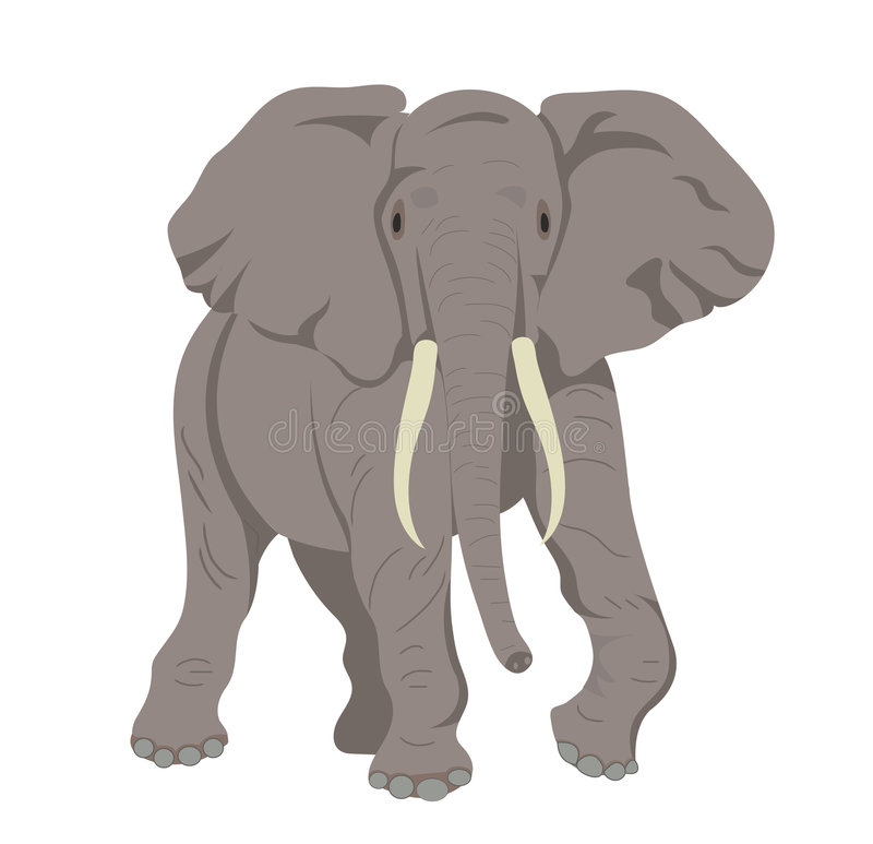 afrikansk elefant royaltyfri illustrationer