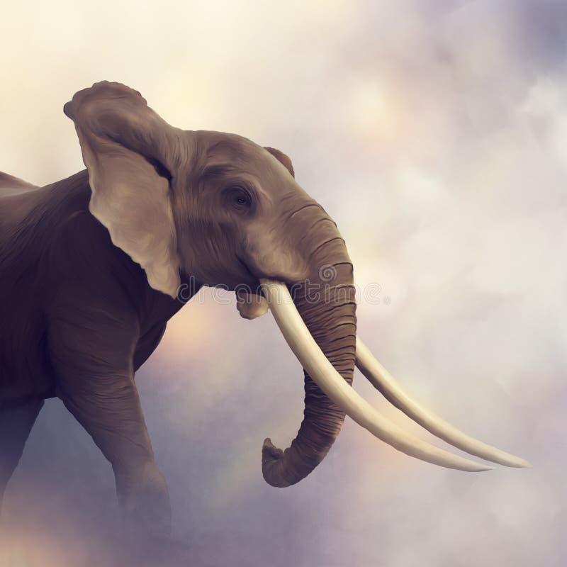 Afrikansk elefantstående arkivbild