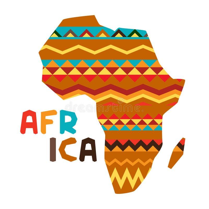 Afrikansk etnisk bakgrund med illustrationen av royaltyfri illustrationer