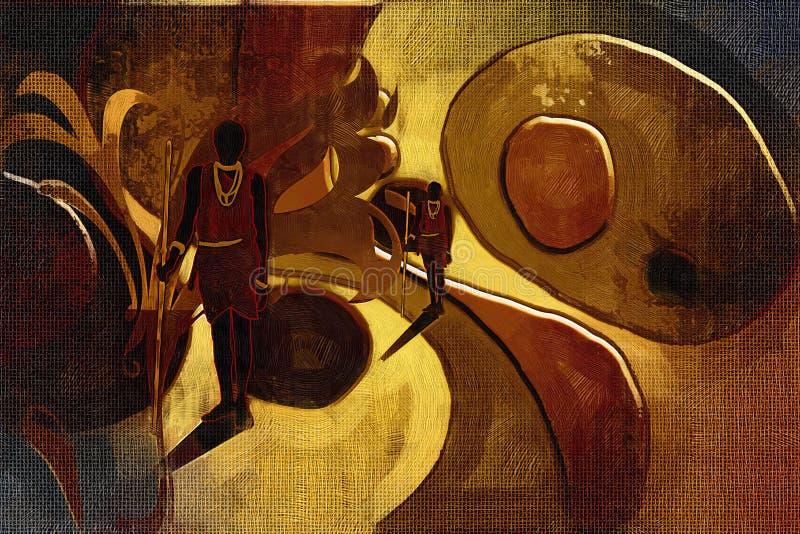 Download Afrikansk Etnisk Retro Tappningillustration Stock Illustrationer - Illustration av zulu, infött: 106830121