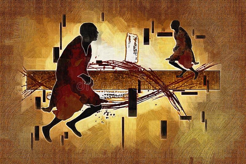 Download Afrikansk Etnisk Retro Tappningillustration Stock Illustrationer - Illustration av tappning, natur: 106830149