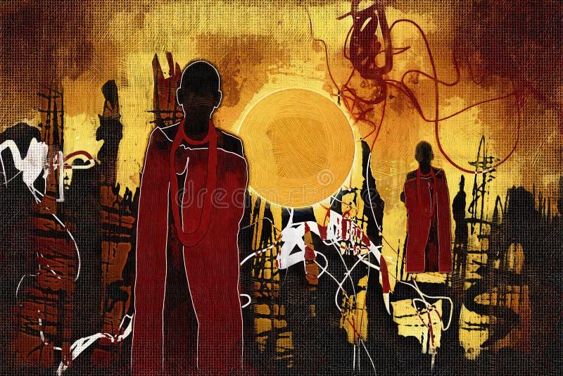 Download Afrikansk Etnisk Retro Tappningillustration Stock Illustrationer - Illustration av infött, gladlynt: 106830251